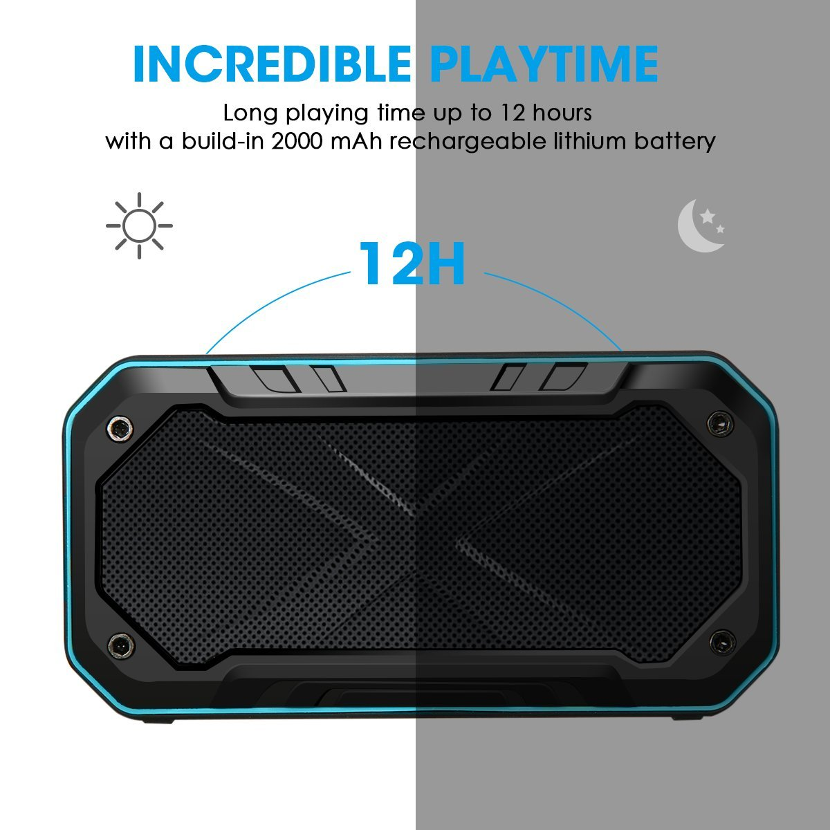 ELEGIANT Wireless Portable Waterproof Bluetooth Speaker