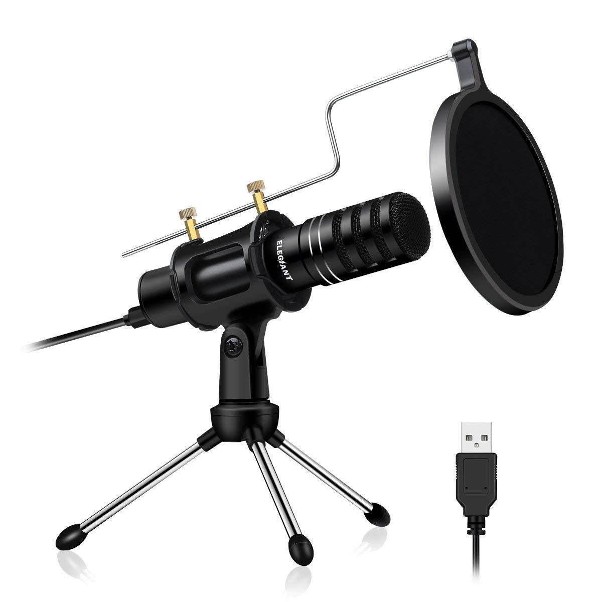 ELEGIANT USB Condenser Professional Home Studio PC Microphone