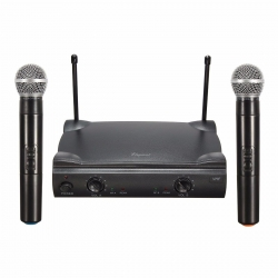 ELEGIANT Dual Wireless Microphone System Professional Home KTV Set