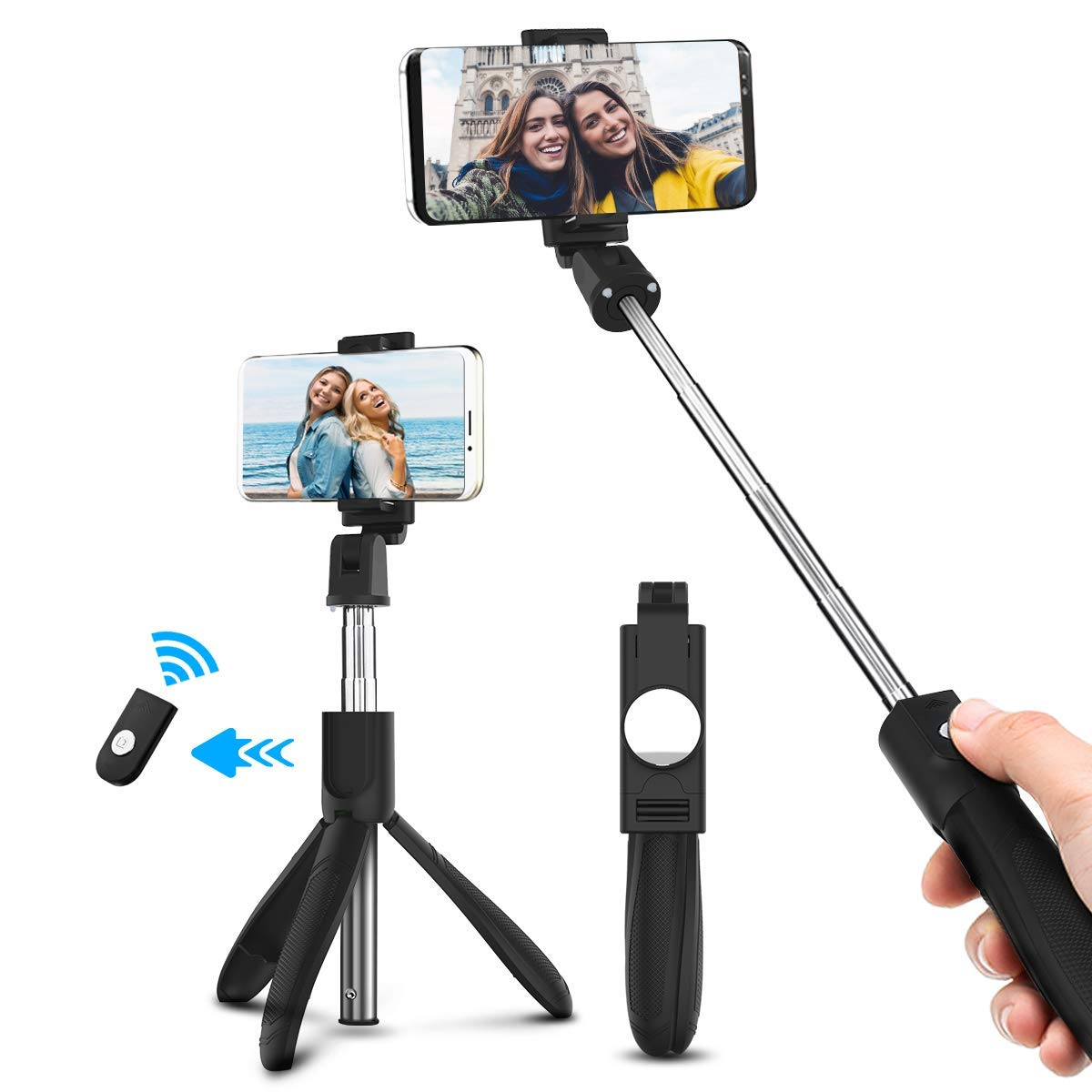 ELEGIANT EGS-003 2 in 1 Bluetooth Selfie Stick Tripod with Remote Trigger